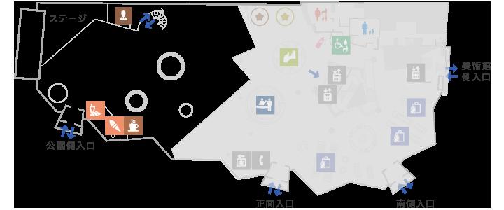 アトリウムフロアマップ